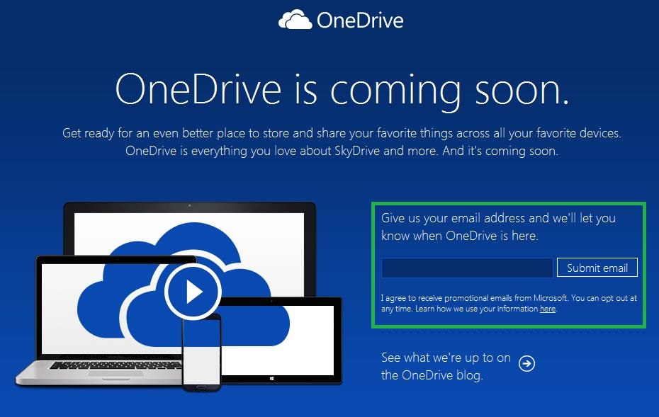 ¿OneDrive está disponible