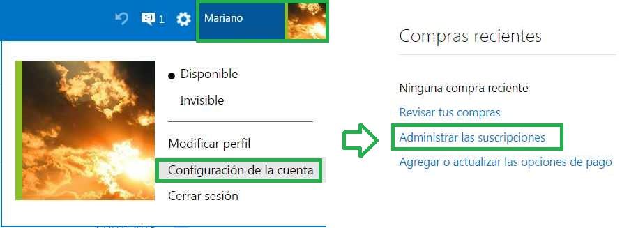 Añadir delegados cuenta Microsoft