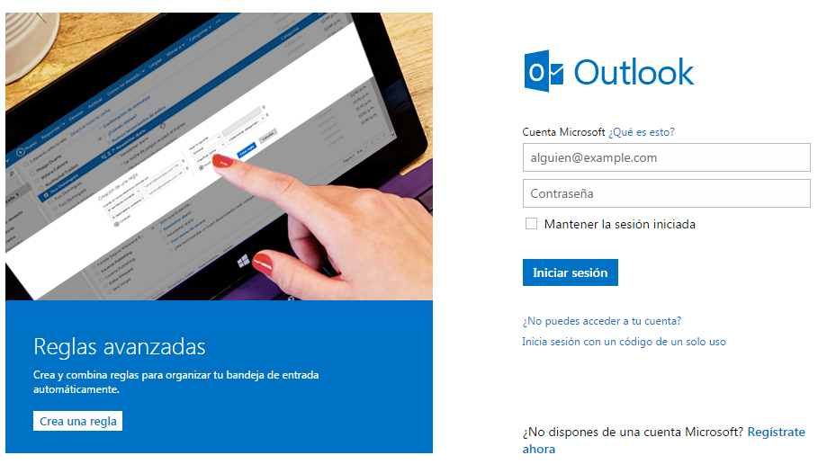 Abrir más de una cuenta de Outlook.com