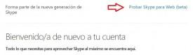 Acceder a Skype para la Web