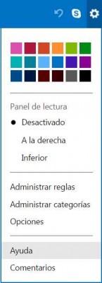 Acceder a la ayuda de Outlook.com