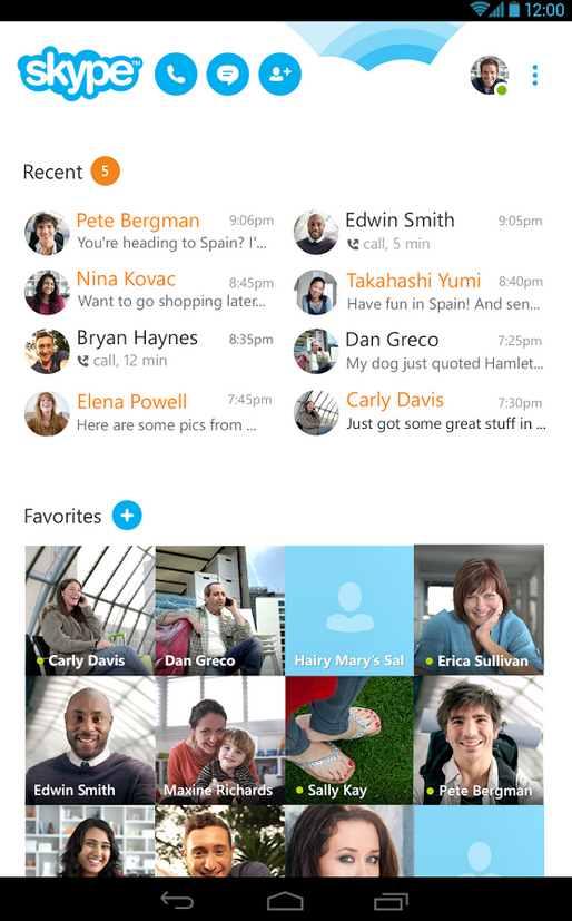 Actualización de Skype para Android