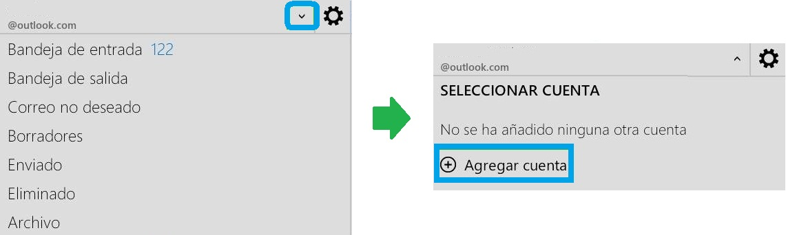 Agregar cuentas en Outlook.com para Android