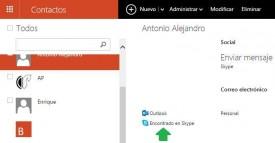Agregar un contacto de Outlook.com a Skype