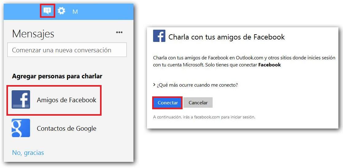 Agregar un contacto en Outlook para chatear