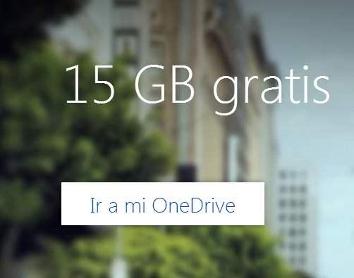 Ahora la capacidad de OneDrive es de 15GB