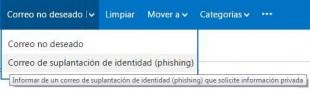 Amenaza de phishing en Outlook.com