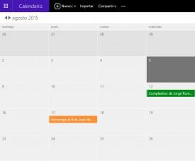 Antiguo calendario para Outlook.com