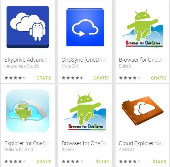 Aplicación alternativa de OneDrive para Android