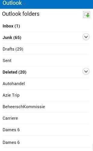 Aplicación no oficial para leer Outlook.com en Android