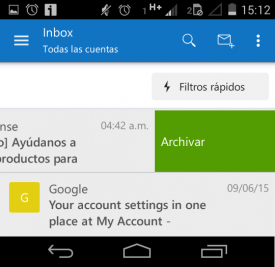 Archivar correos en Outlook para Android