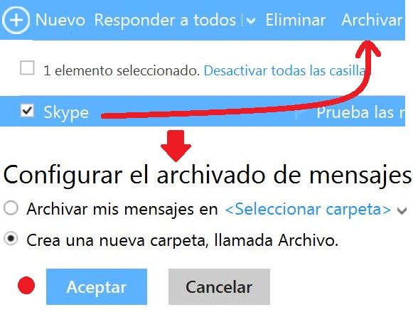 Archivar correos en Outlook