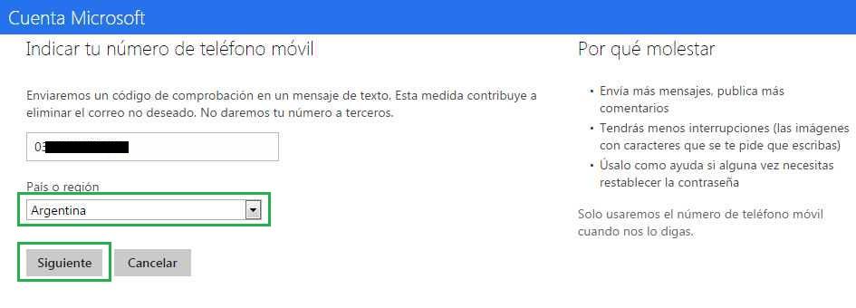 Aumentar los límites de mensajes en Outlook.com