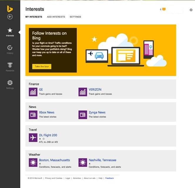 Bing y Outlook.com