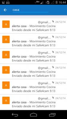 Buscar correos en Android