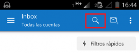 Buscar correos en Outlook para Android