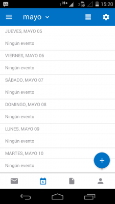 Cambiar el color de los calendarios en Android
