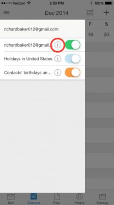 Cambiar el color de los calendarios en Outlook movil