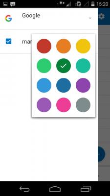 Cambiar el color de los calendarios en Outlook para Android