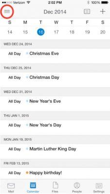 Cambiar el color de los calendarios en Outlook para iOS