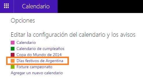 Cambiar el color del calendario de Hotmail