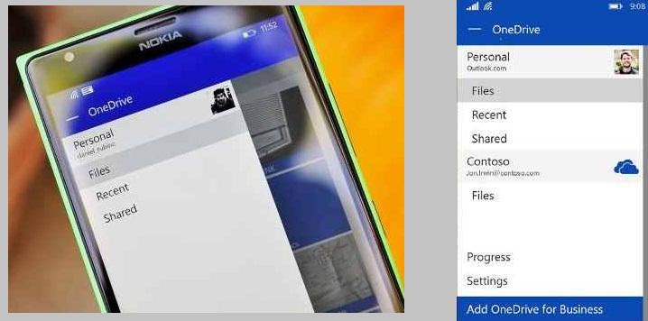Cambios en OneDrive para Windows Phone