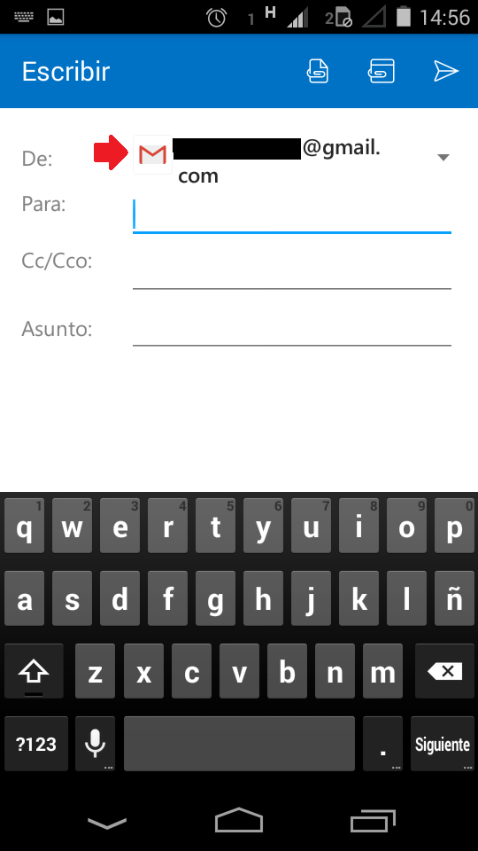 Cambios  en Outlook para Android