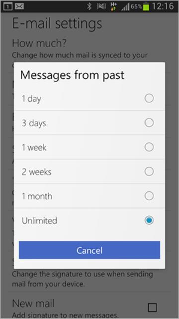 Cambios recientes en Outlook.com para Android