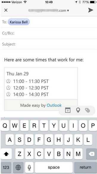 Características de Outlook para Android