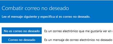 Como funciona Spam Fighters Program en Outlook.com