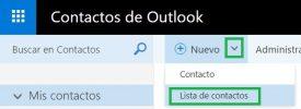 Como hacer una lista de contactos en Outlook.com
