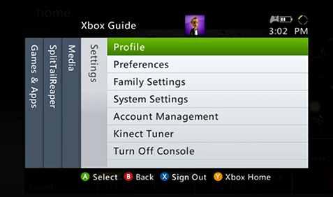 Configuración - Profile - XBox