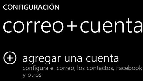 Configurar Outlook.com en Windows Phone
