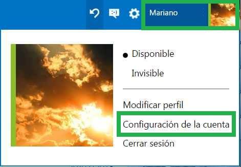 Configurar la zona horaria en Outlook.com