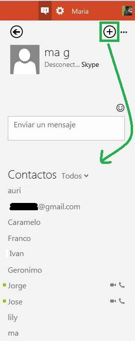 Conversar en grupo con Skype en Outlook