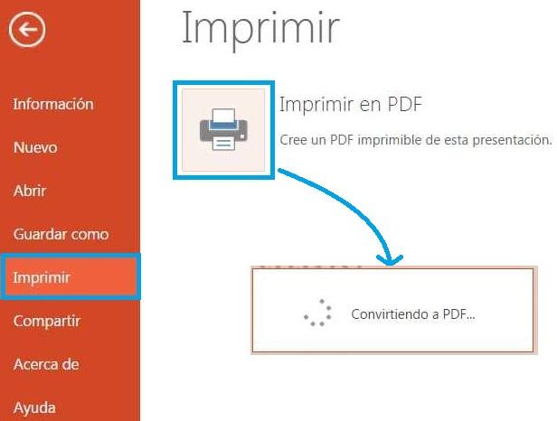 Convertir una presentación de PowerPoint a PDF