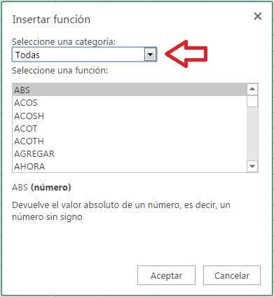 Crear fórmulas en Excel Online