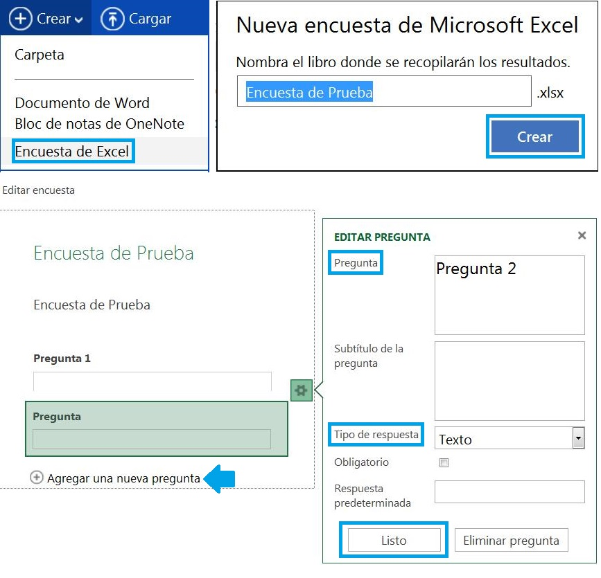 Crear una encuesta de Excel en SkyDrive
