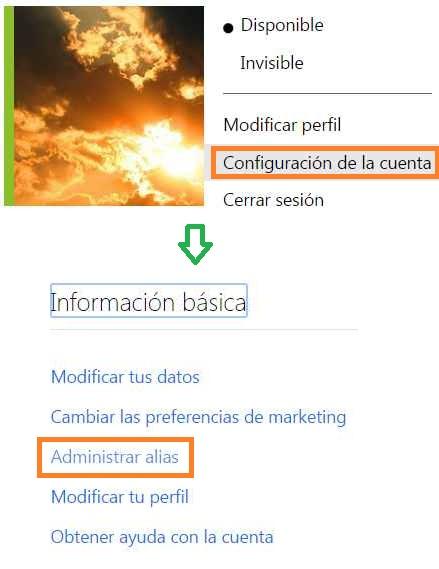 Cuántos alias se pueden tener en Outlook.com