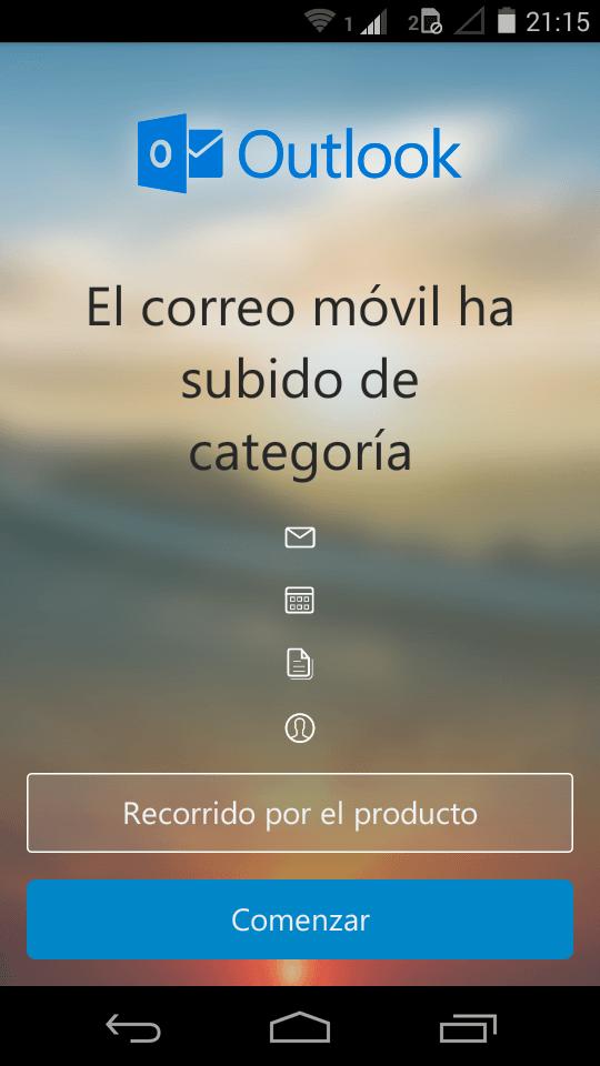 Cuenta de Gmail en Outlook para Android