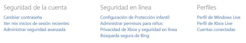 Cuentas relacionadas de Microsoft