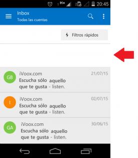 Curiosidades de Outlook para Android