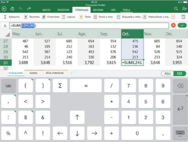 Descargar Excel en iPad