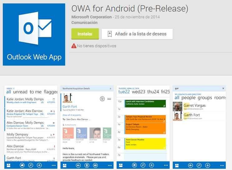 Descargar OWA para Android