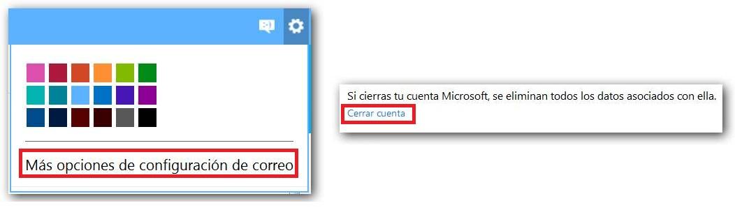 Eliminar una cuenta de Outlook