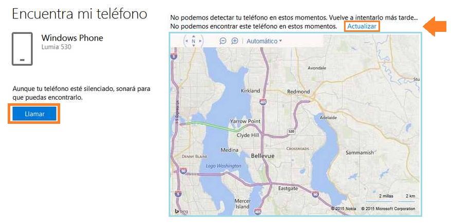 Encontrar un teléfono con Windows Phone por Internet