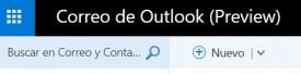 Entorno de Outlook Preview