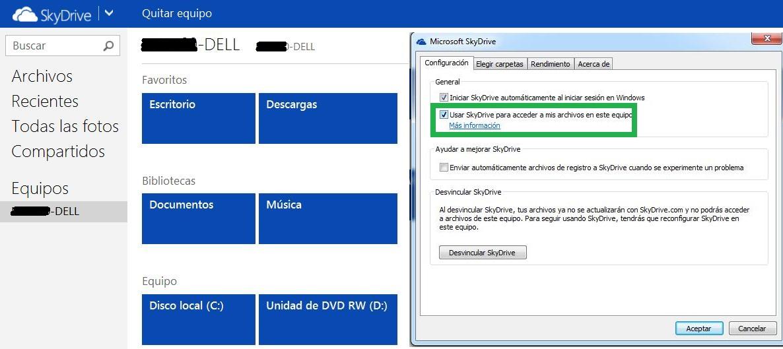 Equipos asociados a SkyDrive