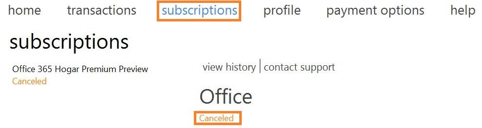 Evitar la renovación automática de la suscripción a Outlook.com