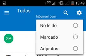 Filtros en Outlook para Android